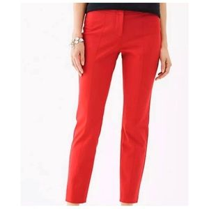 J. Jill Red Cropped Pants Women's Size 2 Preowned